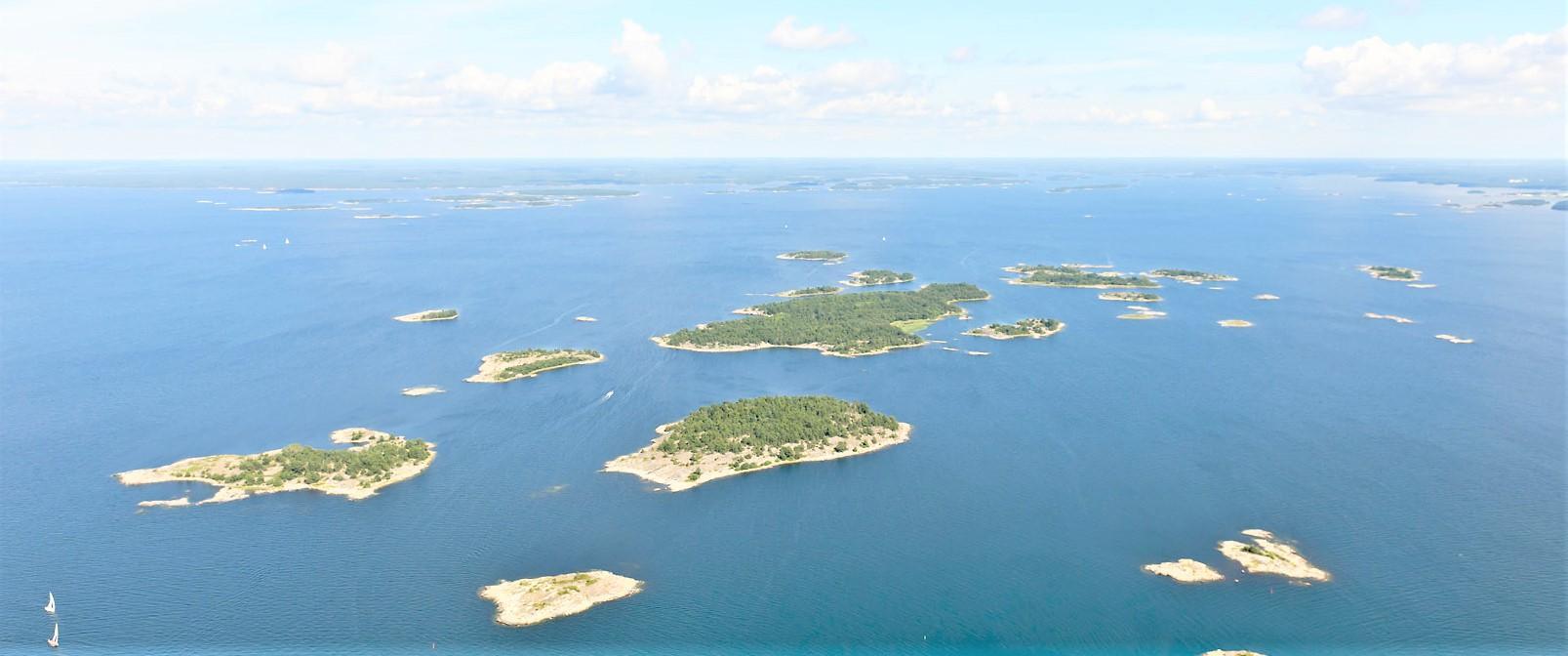 Ilmakuva Hangon saaristosta.