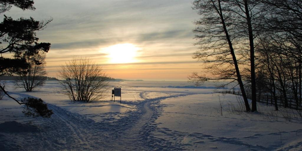 Luminen Lånsandan ranta Hangossa.