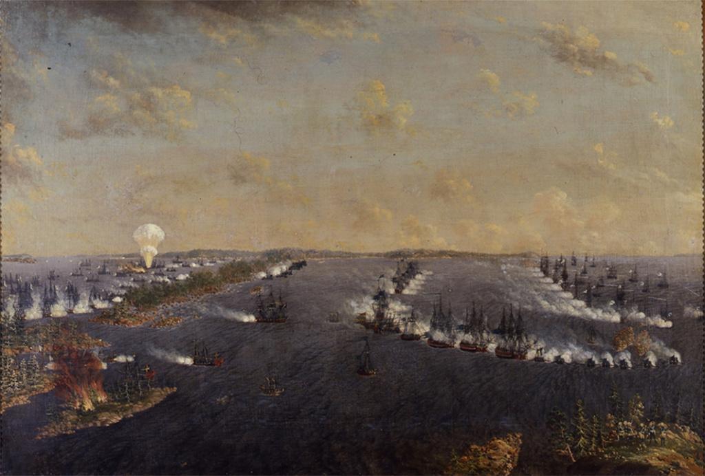 Ruotsinsalmen ensimmäinen meritaistelu vuonna 1789
